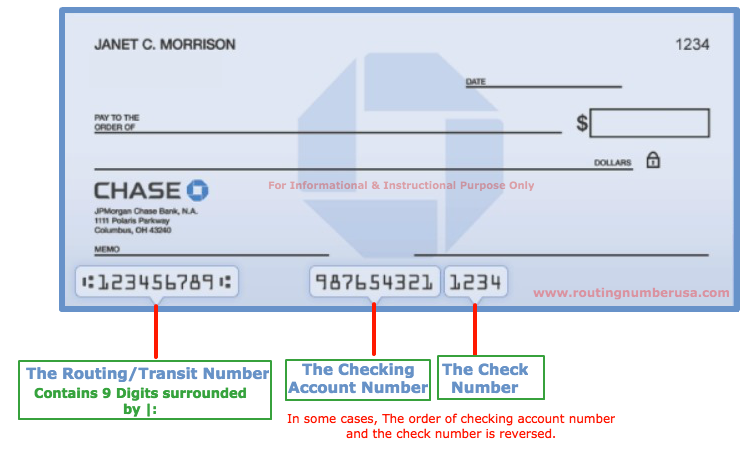 jpmorgan Chase Bank Routing Number